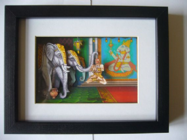 Street Fighter 2 Dhalsim Stage 3D Diorama Shadow Box